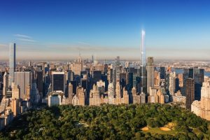 The Central Park Tower in New York City has become the tallest residential tower in the world. Image courtesy Extell Development Company