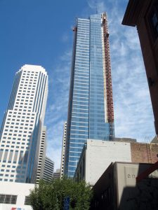 The sinking Millennium Tower in San Francisco, California, will be going through a $100-million restoration. Photo courtesy Wikimedia Commons