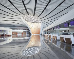 Nicknamed 'the starfish,' the Beijing Daxing International Airport is now open in China. Photo © Hufton+Crow
