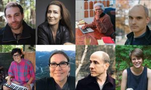 Incoming MacDowell Colony Fellows (clockwise from top left) include David Dominique, Jeanine Tesori, Nell Painter, Hernan Diaz, Sarah DeLappe, Jeff Sharlet, Jodi Spotted Bear, and Jibz Cameron. Images courtesy MacDowell Colony