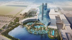 The guitar-shaped building at Florida's Seminole Hard Rock Hotel & Casino is now open. Image courtesy the Seminole Tribe/PR Newswire