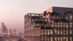 Rendering of Henning Larsen's design for its Mission Rock building in San Francisco. Image © Henning Larsen