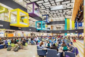 Some common spaces in schools are so enormous, the sound sources are simply not loud enough to energize the room. It is like being outside with no architectural enclosure at all. Photo courtesy Thomas McConnell LLC