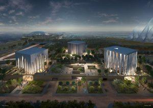 Adjaye Associates win the competition to design the Abrahamic Family House in Abu Dhabi, UAE. Image courtesy Adjaye Associates