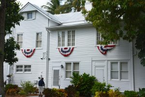 The Harry S. Truman Little White House in Key West, Florida, is restoring its historic roof. Image © Judson McCranie. Image courtesy Wikimedia Commons