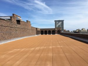 The Milwaukee Public School System (MPS) used an innovative drainage system to extend the lives of its roofs. Photo courtesy Atlas Roofing