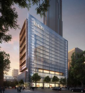 A new Skidmore, Owings & Merrill (SOM)-designed facility for Winship Cancer Institute breaks ground at Emory University Hospital Midtown, in Atlanta, Georgia. Image © SOM