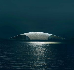 Dorte Mandrup wins international competition to design 'the Whale,' a new attraction in Norway. Rendering courtesy MIR and Dorte Mandrup
