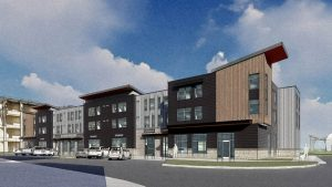 Ground has broken on a new mixed-use apartment project in Park City, Utah. Image courtesy Crandall Capital