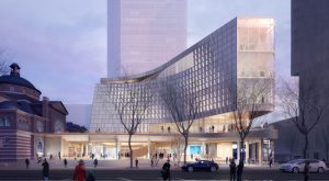 Snøhetta and Clark Nexsen have unveiled designs for a new library in Charlotte, North Carolina. Rendering courtesy LMNB