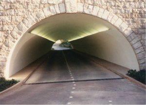 Negative-side waterproofing is often used in tunnel projects.
