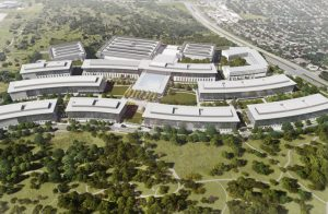 Apple breaks ground on its new 54-ha (133-acre) campus in Austin, Texas. Image courtesy Apple Inc.