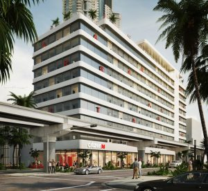 CitizenM Hotels breaks ground on downtown Miami hotel at Miami Worldcenter. Image courtesy citizenM