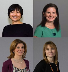 Karen Bala, Ashley Dunn, Heather Stanley, and Sara Ross have been appointed to leadership roles at Dyer Brown. Photo courtesy Dyer Brown