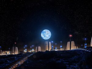 Skidmore, Owings & Merrill LLP (SOM) and the European Space Agency (ESA) have signed a memorandum of collaboration (MoC) to advance Moon Village research. Image © SOM