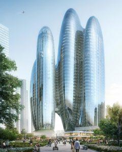 Zaha Hadid Architects (ZHA) will build Oppo's new headquarters in Shenzhen, China. Image courtesy ZHA