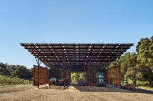 Clayton & Little designs an award-winning, 21st century agri-industrial building in West Paso Robles, California, that operates off the grid. Photo courtesy Casey Dunn