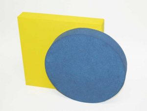 Paintable acoustic panels can be cut into any shape or arrangement.