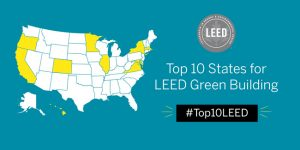 Colorado takes the top spot on the U.S. Green Building Council's (USGBC's) annual list of Top 10 States for Leadership in Energy and Environmental Design (LEED). Image courtesy USGBC