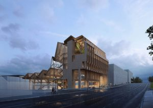 Grafton Architects, in partnership with Modus Studio, will design the new $16-million timber design research center at the University of Arkansas. Image courtesy University of Arkansas
