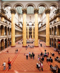 Renovations to the historic great hall of the National Building Museum in Washington, D.C., are now complete. Photo courtesy Kevin Allen