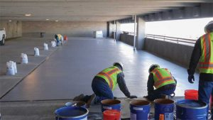 The fast cure properties of PUMA or PMMA coating technology systems are quite appealing to the owners of income-generating parking garages where a multiday shutdown to install a urethane system is not an option.