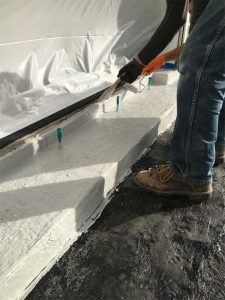 As a flashing for use with hot rubberized asphalt waterproofing systems, PUMA coatings can be applied a day ahead, speeding and simplifying the process without the need for additional priming.