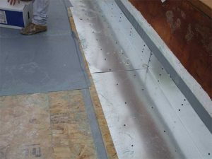Figure 9: Vapor/air barrier applied to field of roof.