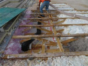 Figure 10: Blown-in insulation. Photos courtesy Inspec.   Photos © Dwight Benoy