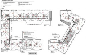 Figure 5: Approximate areas of roof deck and insulation replacement. Image courtesy Inspec