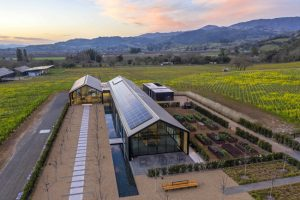 The Silver Oak Alexander Valley winery in Healdsburg, California, is the largest building in the world to earn the Living Building certification from the International Living Future Institute (ILFI). Photo courtesy Silver Oak