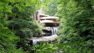 With the world under lockdown, #WrightVirtualVisits offers virtual visits to Frank Lloyd Wright-designed buildings. Photo courtesy Fallingwater Twitter