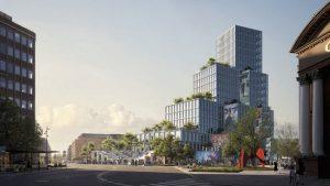 Bjarke Ingels Group (BIG) reveals initial look of 'cinematic ziggurat' project proposed for Copenhagen, Denmark. Image courtesy BIG