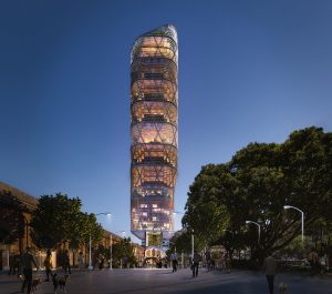 Atlassian plans to build the world's tallest hybrid timber tower for its new headquarters in Sydney, Australia. Image courtesy Atlassian