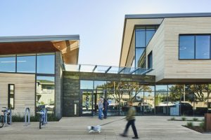 The Half Moon Bay Library in California, designed by Noll & Tam Architects, honors the region's agricultural roots and coastal environment. Photo courtesy Anthony Lindsey/Tubay Yabut