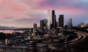 A new Seattle Tower designed by ODA New York offers connections to the outdoors with a garden in the sky. Image courtesy ODA New York