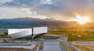The Diller Scofidio + Renfro (DS+R)-designed U.S. Olympic and Paralympic Museum in Colorado Springs, Colorado, is all set for opening. Photo © Jason O'Rear
