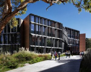 ZGF Architects design the new William and Linda Frost Center for Research and Innovation in San Luis Obispo, California, with a focus on occupant health. Photo courtesy ZGF Architects