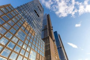Kohn Pederson Fox Associates used custom powder coatings on the 55 Hudson Yards skyscraper, New York, to reflect industrial heritage of the neighborhood. Photo courtesy Max Touhey
