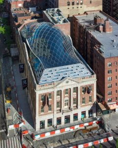 With new façades, Buro Happold helps illuminate the historic Tammany Hall in New York City. Image courtesy Buro Happold