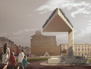 Sir David Adjaye designs memorial in Brixton, U.K., in honor of Cherry Groce, an innocent mother who was shot in her home by the Metropolitan Police. Image via Adjaye Associates Twitter