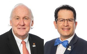 The National Council of Architectural Registration Board (NCARB) has promoted Robert M. Calvani, FAIA, NCARB, (left) as president and Alfred Vidaurri Jr., FAIA, NCARB, (right) as vice-president. Photos courtesy NCARB