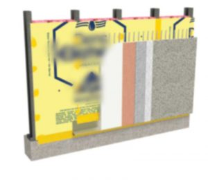 The gypsum-integrated water-resistive barrier-air barrier (WRB-AB) assembly streamlines the entire construction process when different cladding selections are specified.