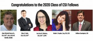 Congratulations to the 2020 class of CSI Fellows. Photo courtesy CSI
