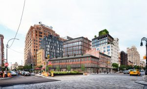The New York City's Landmarks Preservation Commission approve BKSK Architects' revised proposal for an office building in the city's Meatpacking District. Photo courtesy BKSK Architects