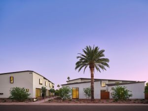 Designed by Studio Ma, The Hollyhock, a new townhome complex in Phoenix, Arizona, offers denser and more sustainable housing units. Photo courtesy Roehner + Ryan