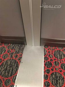 Aluminum cover plate with slip-resistant grooves and wall expansion joint cover with concealed fasteners were installed at the Flamingo Hotel and Casino in Las Vegas, Nevada.