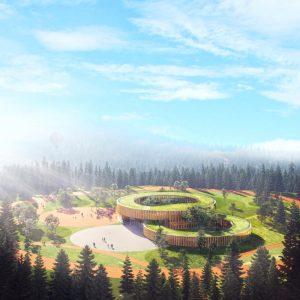 Architect Valentino Gareri has designed the Tree-House School, a modular educational center for the post-COVID era. Image © Winston Wu