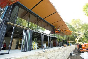 Energy-efficient, bird-safe glass was installed at the National Aviary's (Pittsburgh, Pennsylvania) Garden Room to help protect the local bird habitat. Photo © Jim Cunningham
