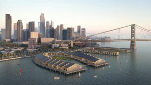 Heatherwick Studio has revealed plans for the Cove, a new waterfront development in San Francisco, California. Image courtesy Wire Collective